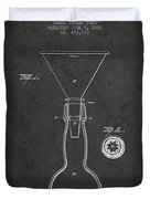 Vintage Bottle Neck Patent From 1891 Duvet Cover by Aged Pixel