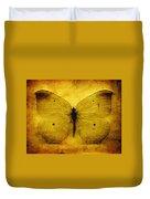 Vintage Grunge Butterfly Duvet Cover