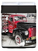 Vintage International Truck Duvet Cover by Douglas Barnard