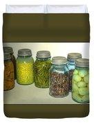 Vintage Kitchen Glass Jar Canning Duvet Cover
