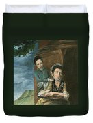 Vintage Mother And Son Duvet Cover