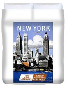 Vintage New York Travel Poster Duvet Cover