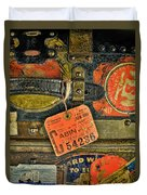 Vintage Steamer Trunk Duvet Cover