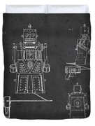Vintage Toy Robot Patent Drawing From 1955 Duvet Cover