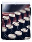 Vintage Typewriter Keys Duvet Cover