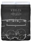 Vintage Violin Patent Drawing From 1928 Duvet Cover