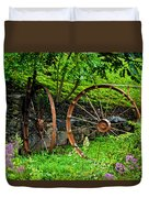 Vintage Wagon Wheel Gate Duvet Cover