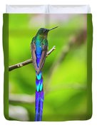 Violet-tailed Sylph Duvet Cover