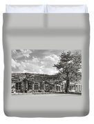 Virginia City Montana Ghost Town Duvet Cover