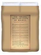 Virginia Constitution, 1776 Duvet Cover
