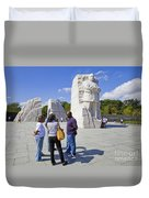 Visitors At The Martin Luther King Jr Memorial Duvet Cover