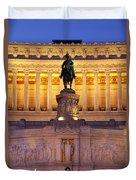 Vittorio Emanuele - Rome Duvet Cover