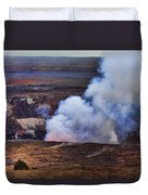 Volcano Crater Big Island Hawaii  Duvet Cover