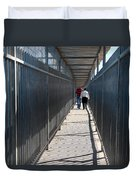 Walking Together Duvet Cover