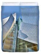 Walt Disney Concert Hall Vertical Los Angeles Ca Duvet Cover