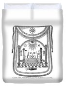 Washington Masonic Apron Duvet Cover