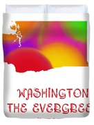Washington State Map Collection 2 Duvet Cover