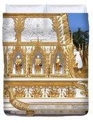 Wat Nong Bua East Side Of Main Stupa Base Dthu449 Duvet Cover