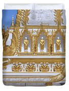 Wat Nong Bua West Side Of Main Stupa Base Dthu447 Duvet Cover