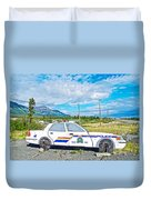 Watch Out For The Rcmp Near Destruction Bay In Yukon-canada Duvet Cover