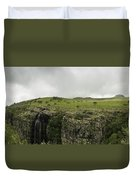 Waterfall Flowing Over The Edge Duvet Cover