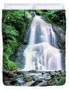 Waterfall In A Forest, Moss Glen Falls Duvet Cover