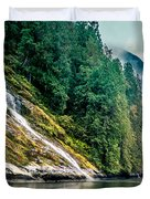 Waterfall Jervis Inlet Duvet Cover