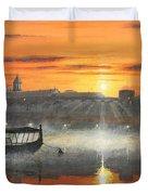 Wawel Sunrise Krakow Duvet Cover