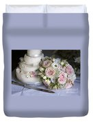 Wedding Bouquet And Cake Duvet Cover