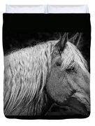 Western Horse In Alberta Canada Duvet Cover