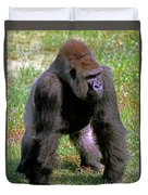 Western Lowland Gorilla Silverback Duvet Cover