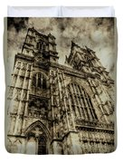Westminster Abbey London Vintage Duvet Cover