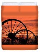 Wheel-n-axle Sunset.. Duvet Cover