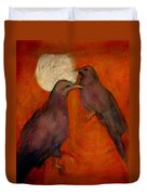 When Crow Made The Moon Duvet Cover by Johanna Elik