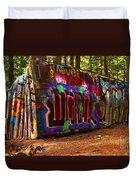 Whistler Train Wreck Box Car Duvet Cover