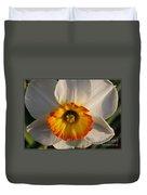 Paper White Daffodil Duvet Cover