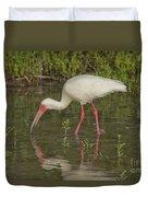 White Ibis Duvet Cover