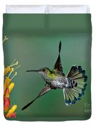 White-necked Jacobin Duvet Cover