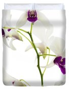 White Orchids Duvet Cover