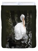 White Pelican Duvet Cover