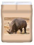 White Rhinoceros Duvet Cover