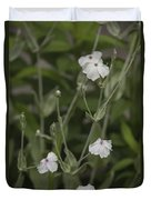 White Rose Campion Duvet Cover