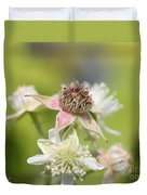 Wild Black Raspberry Blossom Duvet Cover