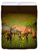 Wild Horses In California Series 2 Duvet Cover
