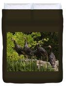 Wild Turkey Meleagris Gallopavo Duvet Cover