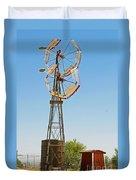 Wind Mills In West Texas Duvet Cover