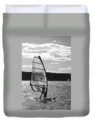 Wind Surfer Bw Duvet Cover