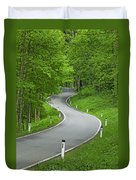 Winding Road In The Woods Duvet Cover