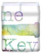 Wine Key Watercolor Duvet Cover
