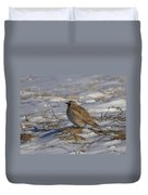 Winter Bird Duvet Cover